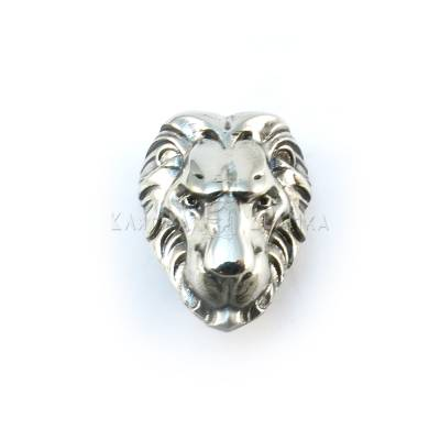 "Nickel silver bead ""Lion"""