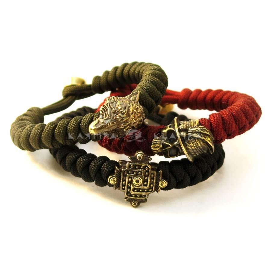 Lanyard bracelet with one bead