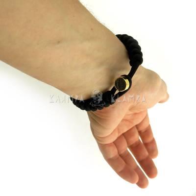 Паракордовий браслет з однією намистиною