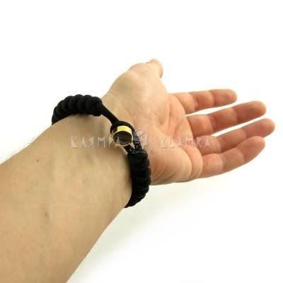 Паракордовий браслет з двома намистинами