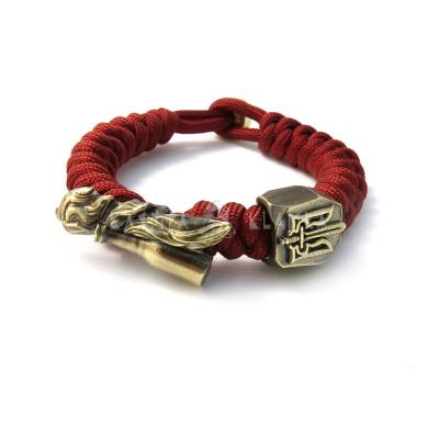 Lanyard bracelet with two beads