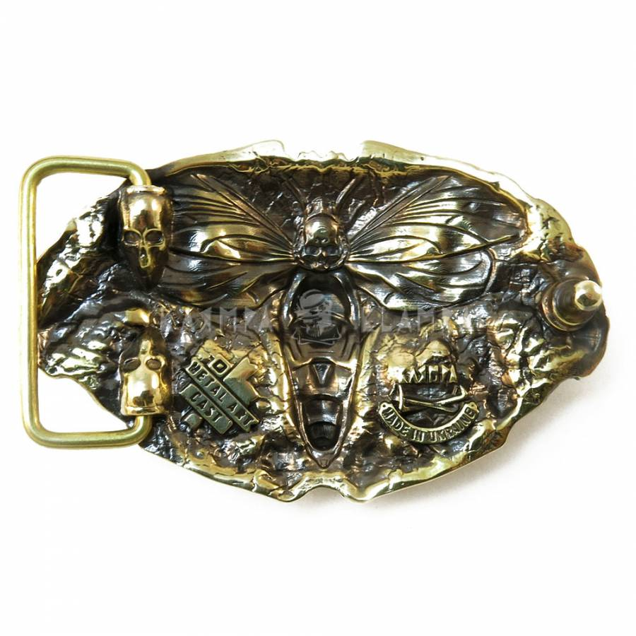 Multi-headed Hound of Hades dog solid brass belt buckle on leather belt Leather belt with handmade brass buckle Cerberus