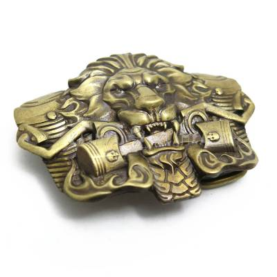 "Brass buckle ""Burning Lion"""