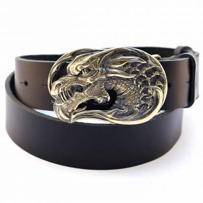"""Шкіряний ремінь """"Золотий дракон"""""""