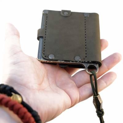 """Шкіряний гаманець """"Хакі"""""""