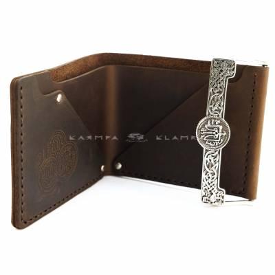 """Шкіряний гаманець """"Гривня"""""""